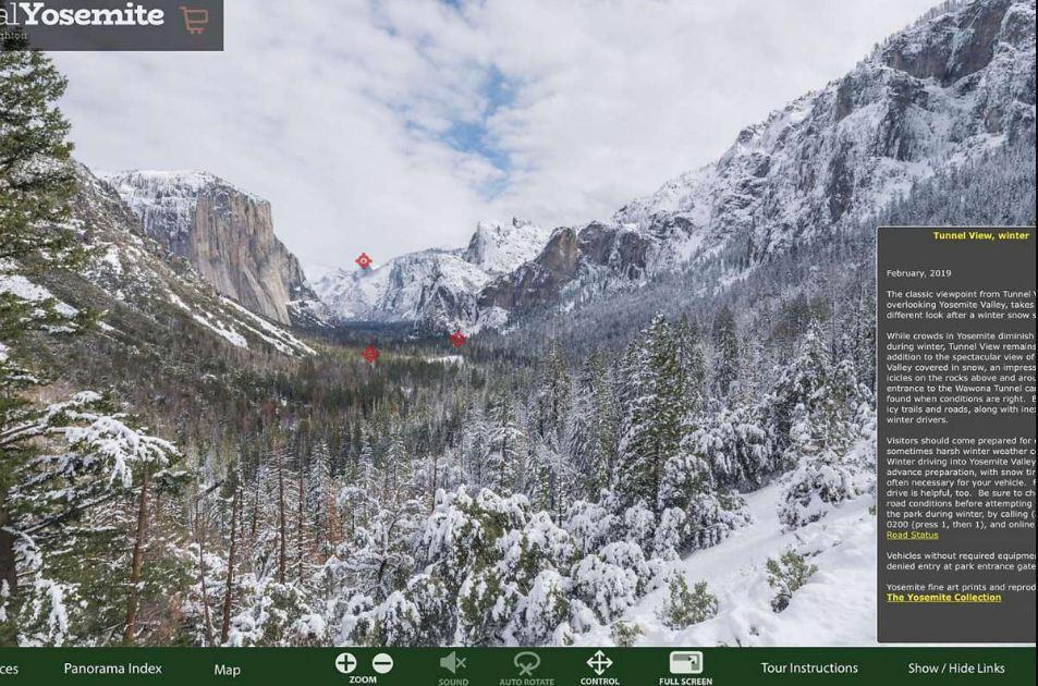 Виртуальный туризм в национальный парк Йосемити